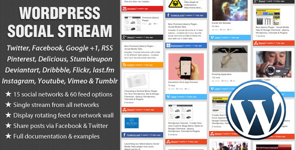 WordPress Social Stream - CodeCanyon Item for Sale
