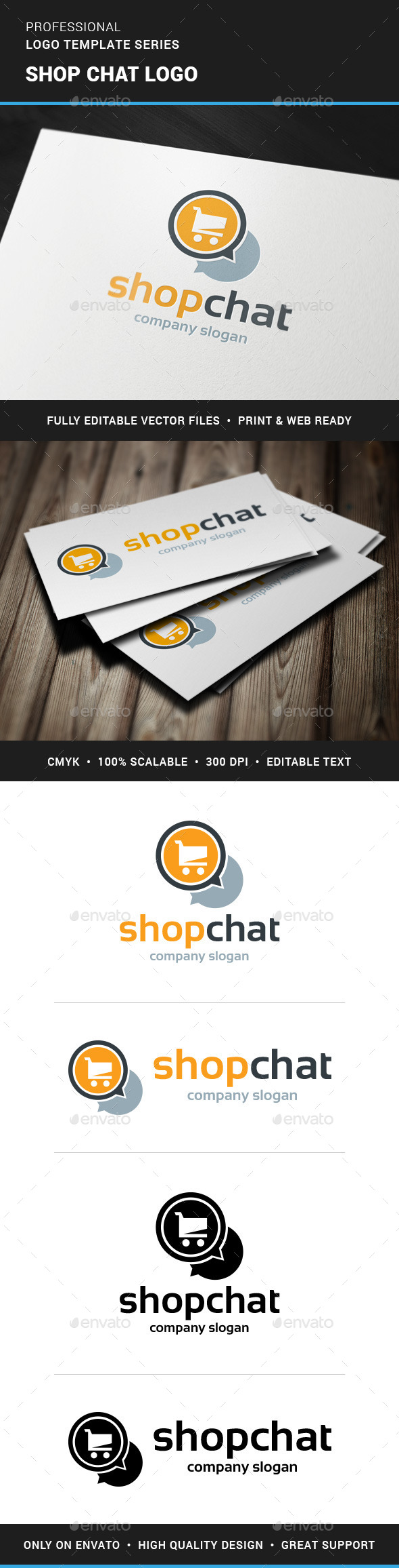 GraphicRiver Shop Chat Logo Template 11388608
