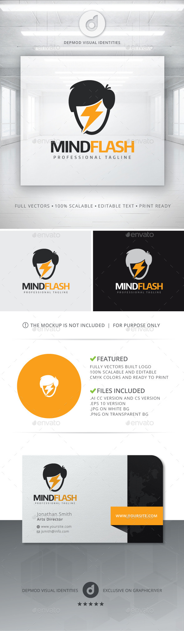 GraphicRiver Mind Flash Logo 11388670