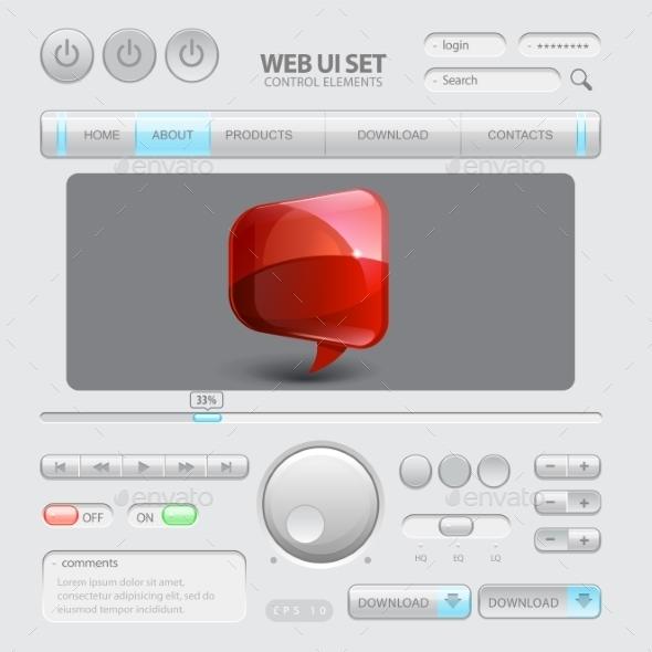 GraphicRiver Web UI Elements 11388678