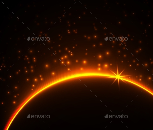 GraphicRiver Space Planet In The Rays Of Light 11388790