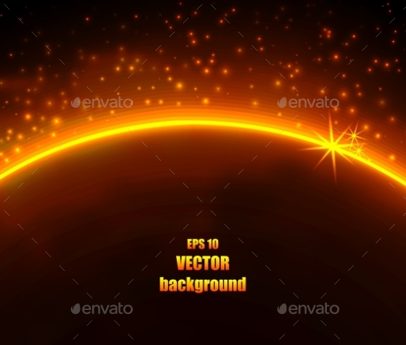 GraphicRiver Space Planet In The Rays Of Light 11388884