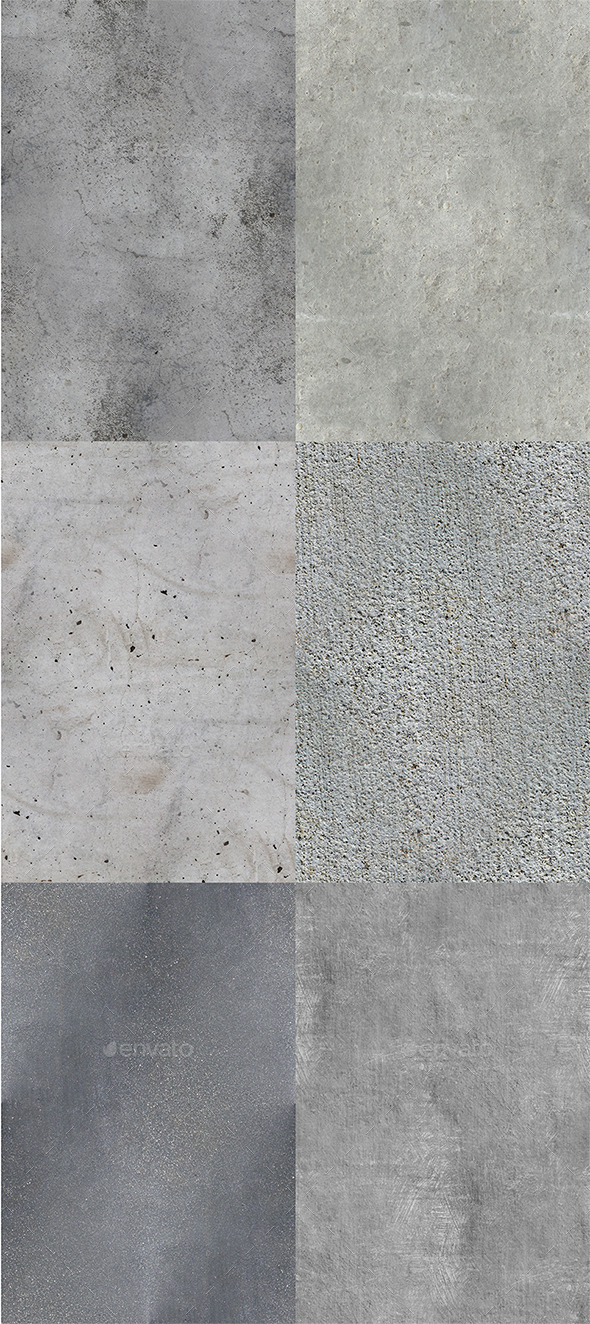 GraphicRiver 6 HD Seamless Concrete Textures 11388943