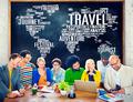 Travel Explore Global Destination Trip Adventure Concept