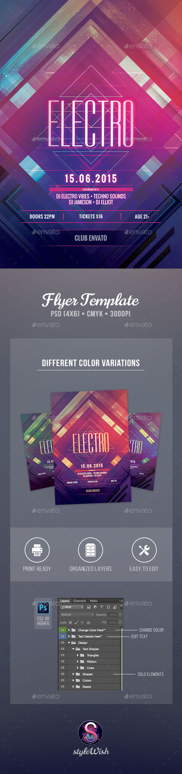 GraphicRiver Electro Flyer 11389158