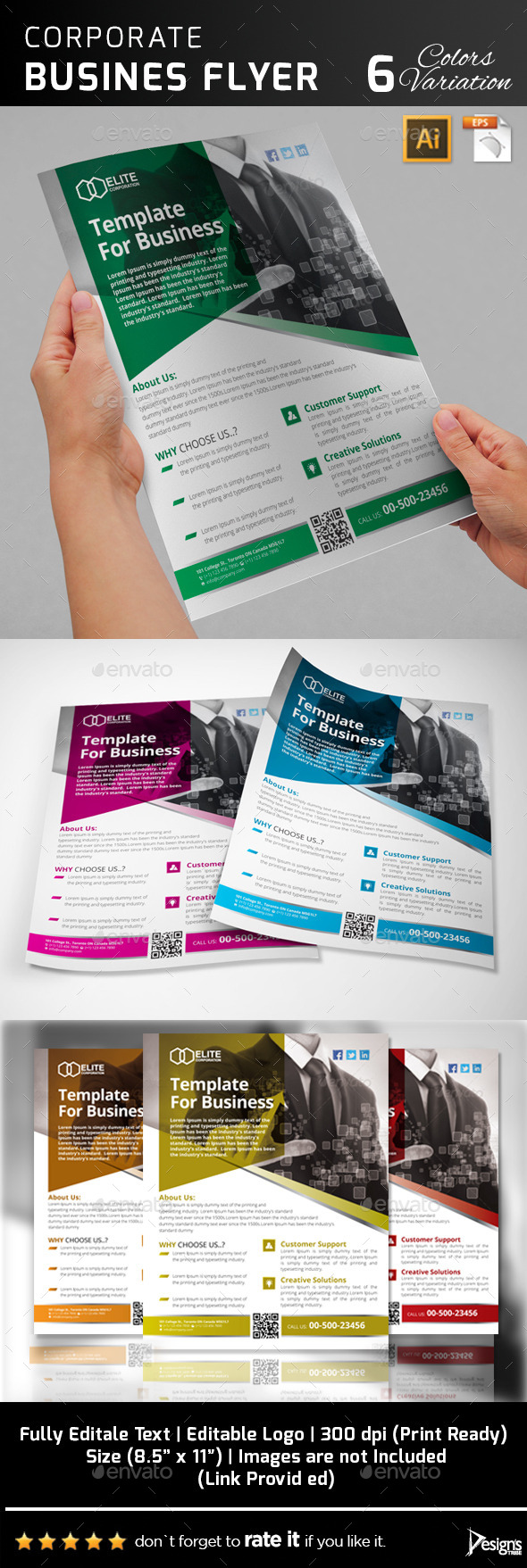 GraphicRiver Multipurpose Business Flyer 43 11389811