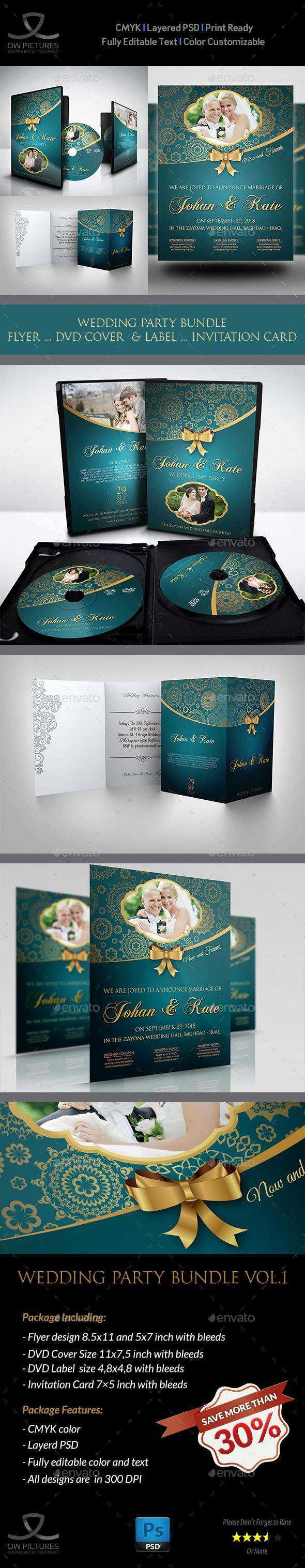 GraphicRiver Wedding Party Bundle Vol.1 11389874