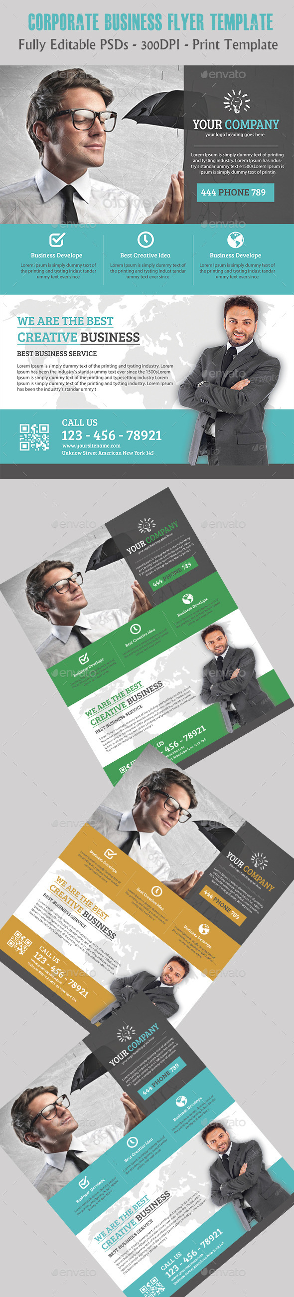 GraphicRiver Multipurpose Business Flyer 11390215