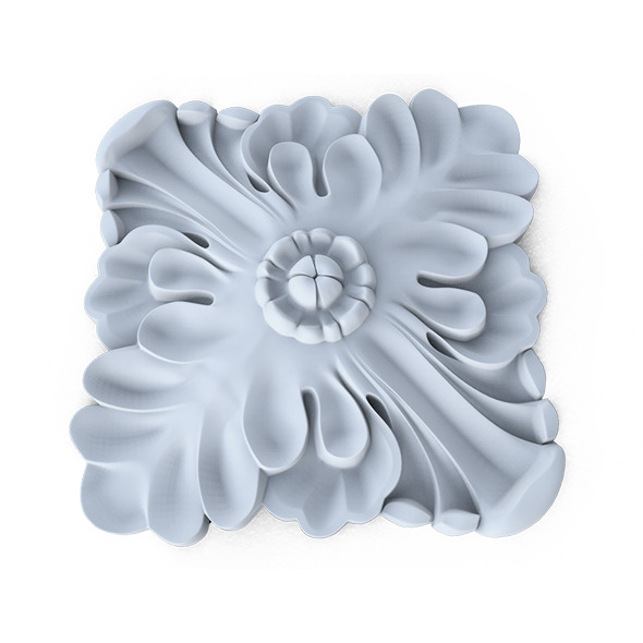 3DOcean Ornament wall rosette 11390448