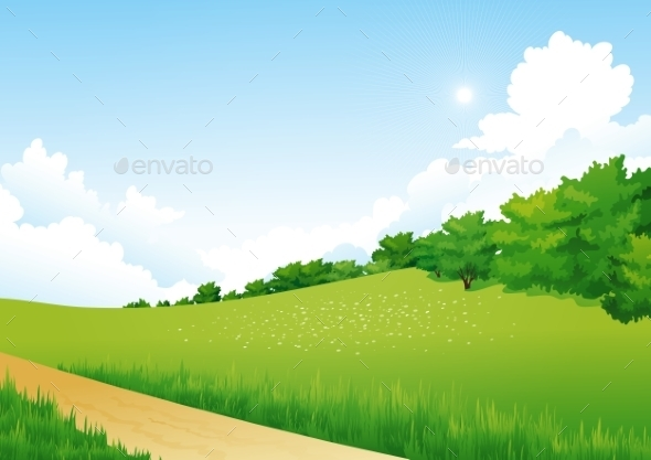 GraphicRiver Green Landscape 11390539