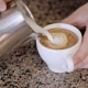 Barista Makes Pattern In Coffee Bar - VideoHive Item for Sale