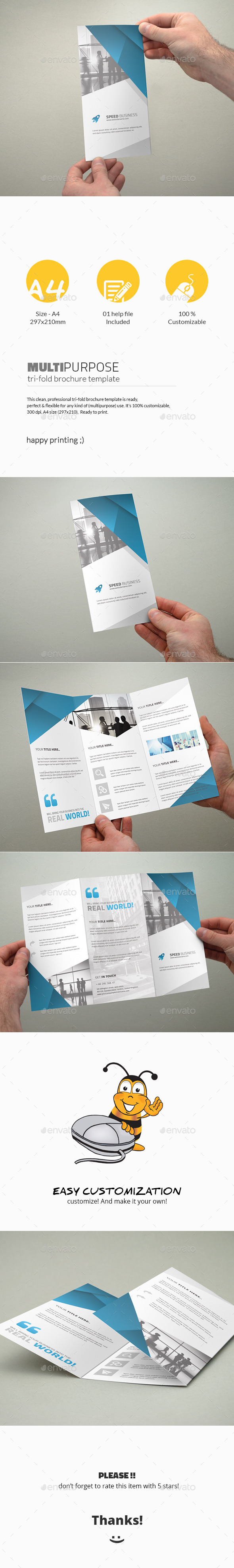 GraphicRiver Tri-Fold Brochure Multipurpose 11390783