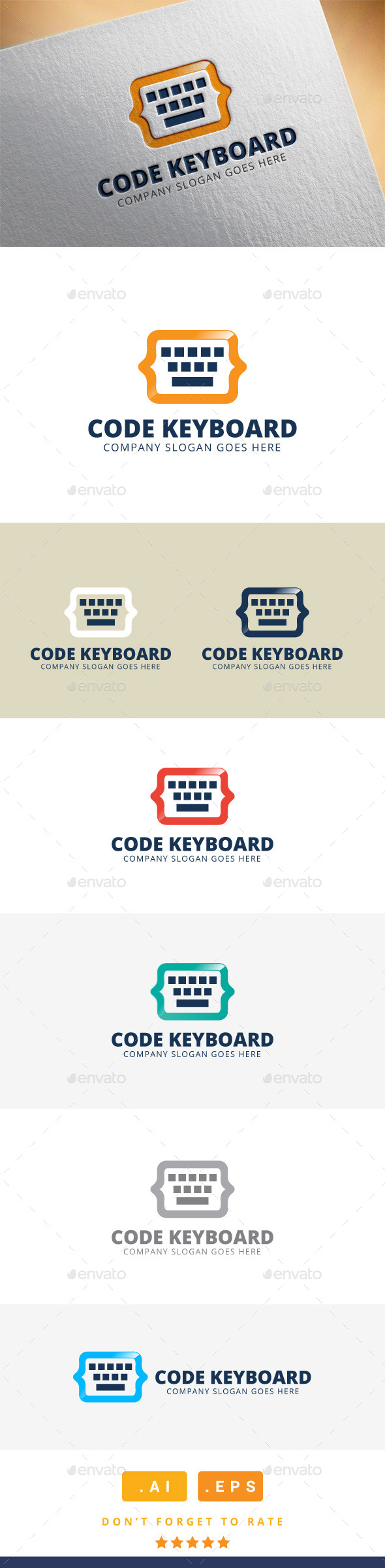 GraphicRiver Code Keyboard Logo 11392005