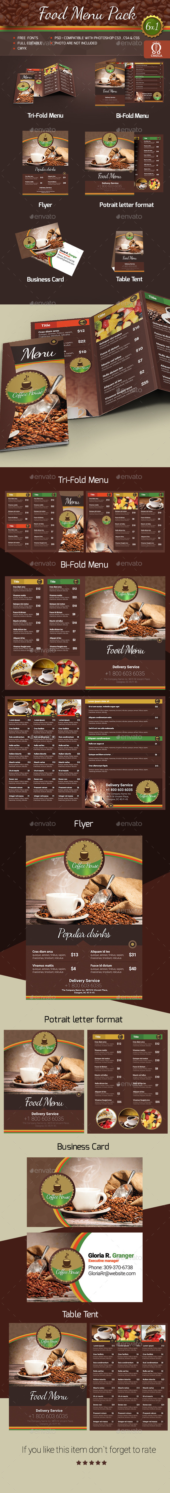 GraphicRiver Food Menu Pack 11323054