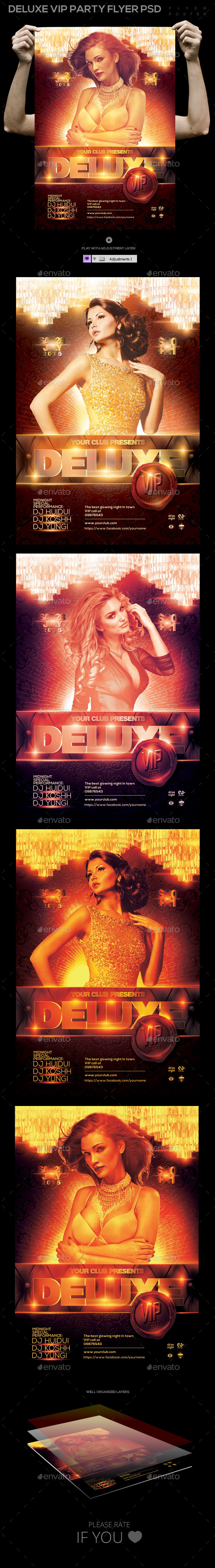GraphicRiver Deluxe VIP Party Flyer Poster Template PSD 11392301