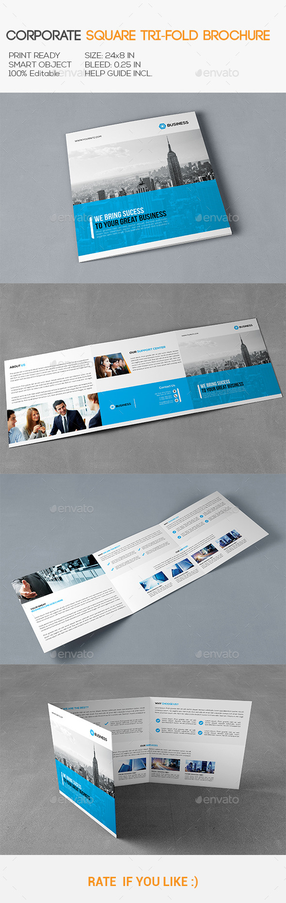 GraphicRiver Square Corporate Trifold Brochure 11392359