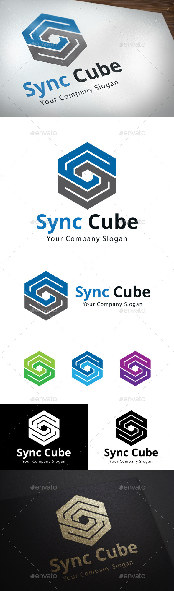 GraphicRiver Sync Cube S Letter Logo 11392375