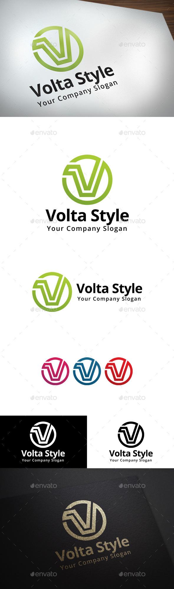 GraphicRiver Volta Style V Letter Logo 11392391