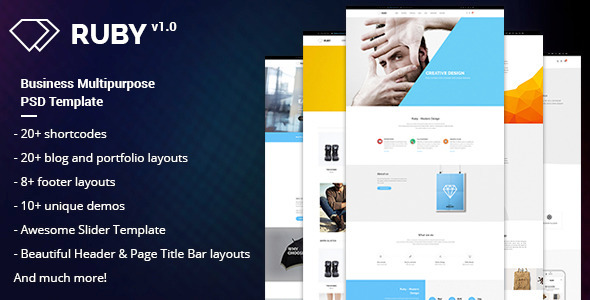 ThemeForest RUBY Business Multipurpose PSD Template 11392416