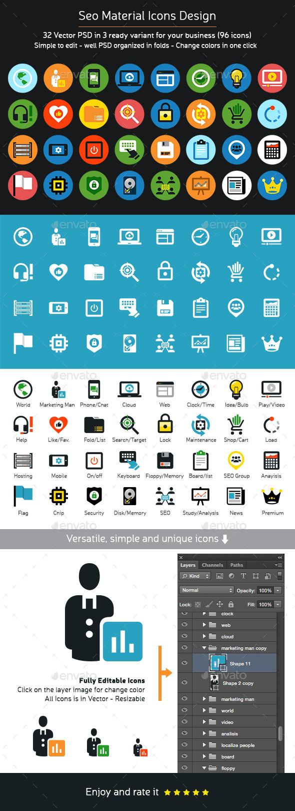 GraphicRiver Seo Material Icons Design 11386789