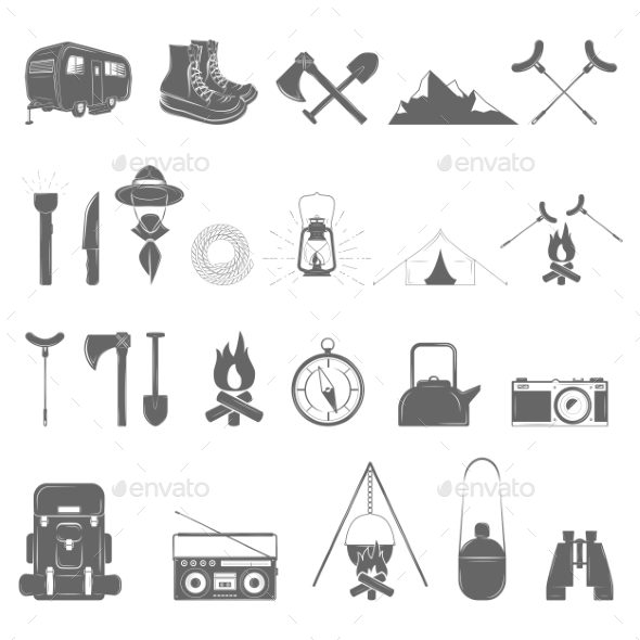 GraphicRiver Outdoor Recreation Icon Set 11392424