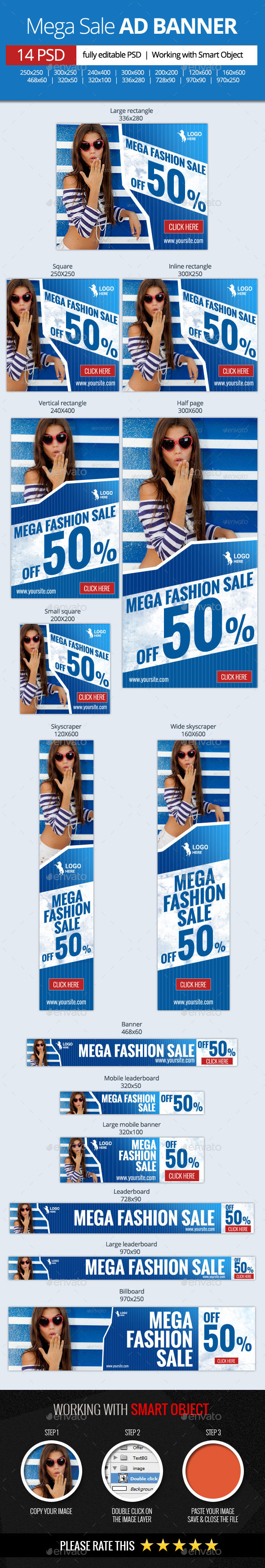 GraphicRiver Mega Fashion Sale Web Banners 11392426