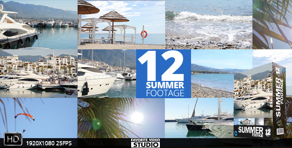 12 Summer Footage Pack