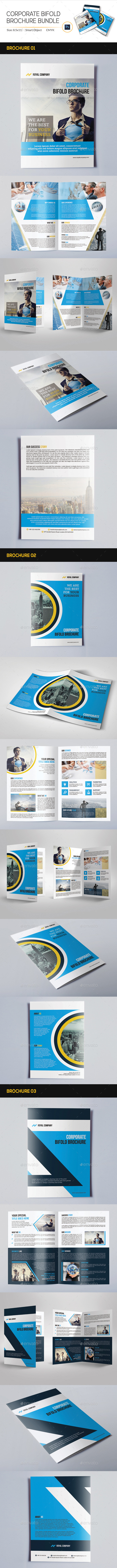 GraphicRiver Corporate Bifold Brochure Bundle 11392482
