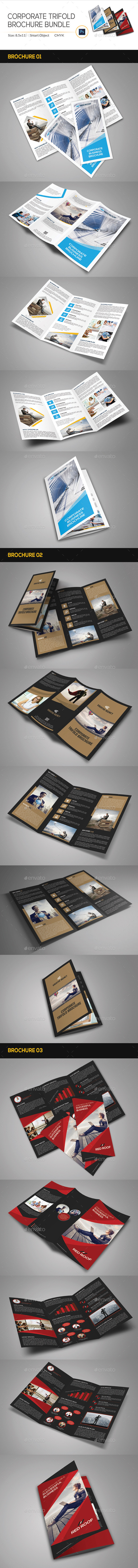 GraphicRiver Corporate Trifold Brochure Bundle 11392589
