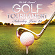 Golf Tournament Event Flyer Template PSD - GraphicRiver Item for Sale