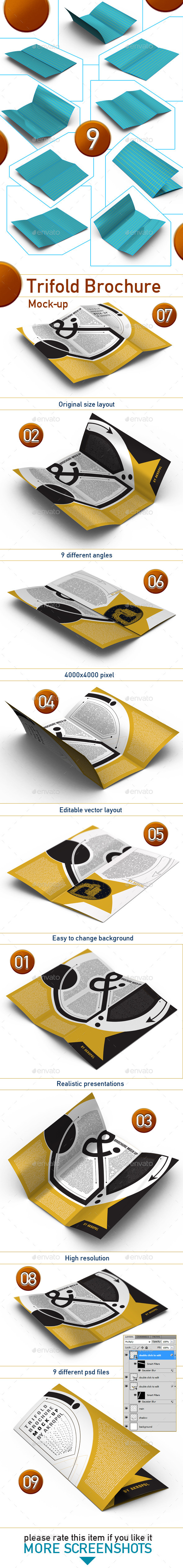 GraphicRiver Trifold Brochure Mock Up 11392650