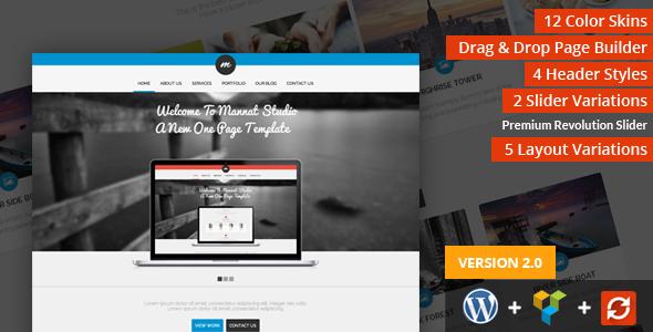 Mannat Studio Parallax One Page WordPress Theme