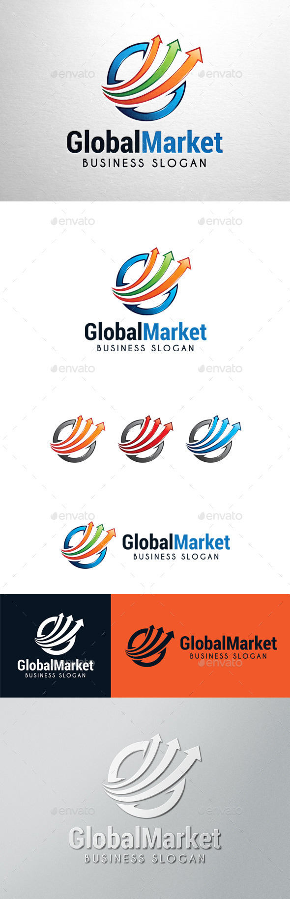 GraphicRiver Global Market Graph Logo 11392848