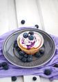 Tasty blueberry cupcake