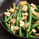 Green Beans with Toasted Almonds in Black Bowl - PhotoDune Item for Sale
