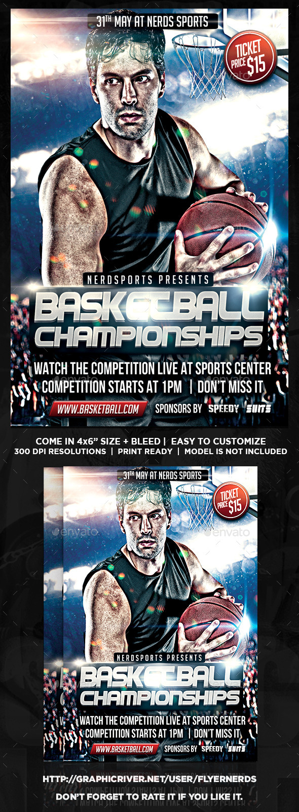 GraphicRiver Basketball Championships Sports Flyer 11393334