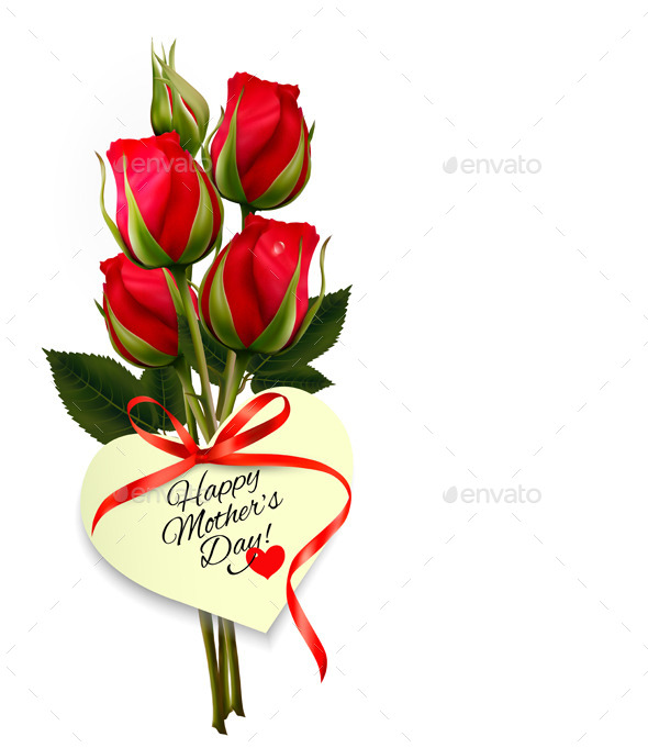 GraphicRiver Red Roses With A Heart-Shaped Gift Card 11393336