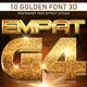10 Golden Font 3D_4
