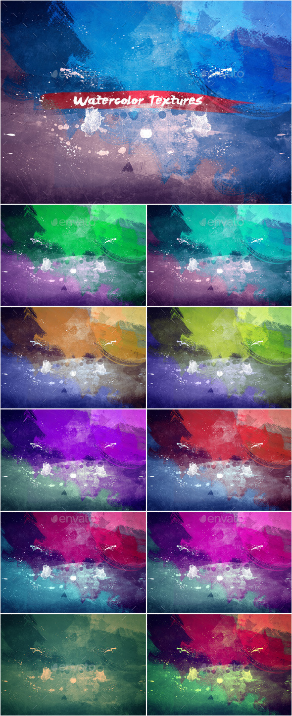 GraphicRiver Watercolor Textures Set 3 11393342