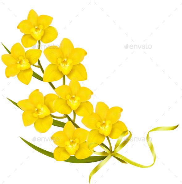 GraphicRiver Holiday Yellow Flowers Background 11393437
