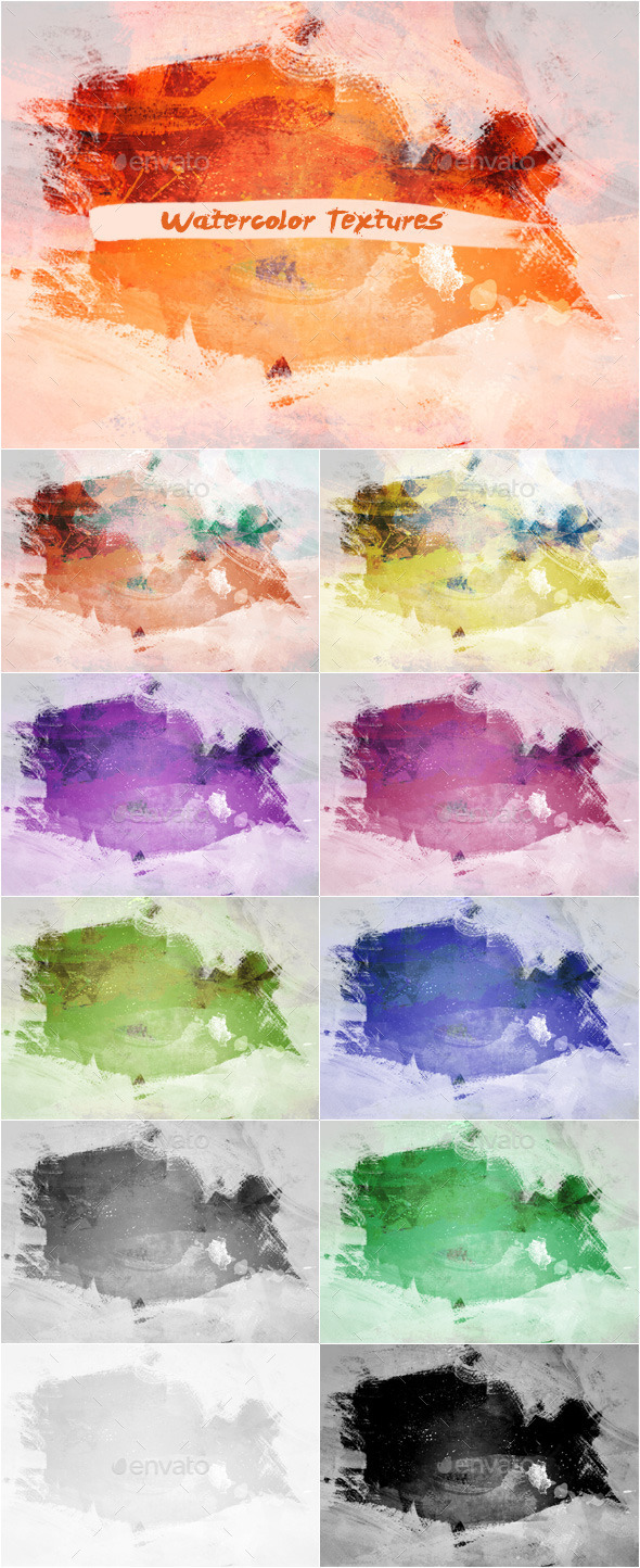 GraphicRiver Watercolor Textures Set 4 11393542