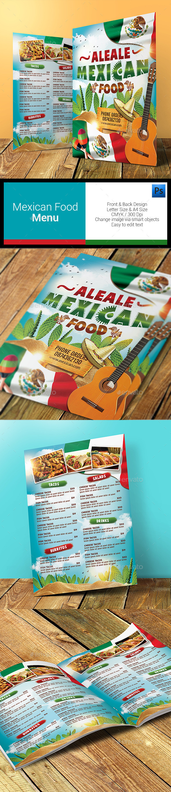 GraphicRiver Mexican Food Menu 11393692