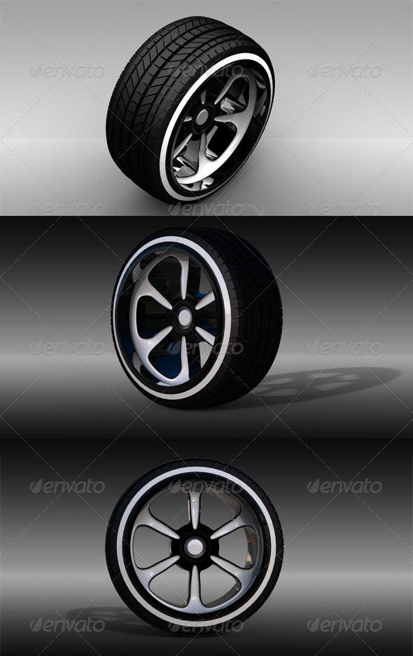 3DOcean Car Wheel 140632