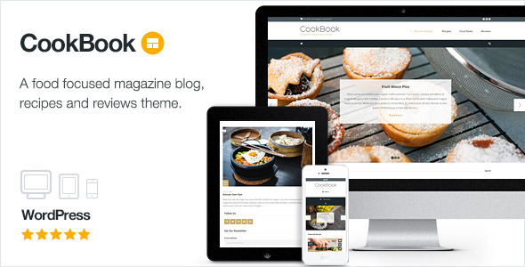 CookBook – Food Magazine Blog (News / Editorial) Download