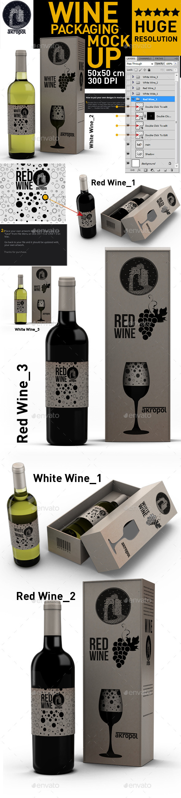 GraphicRiver Wine Bottle Mock Up 11393914