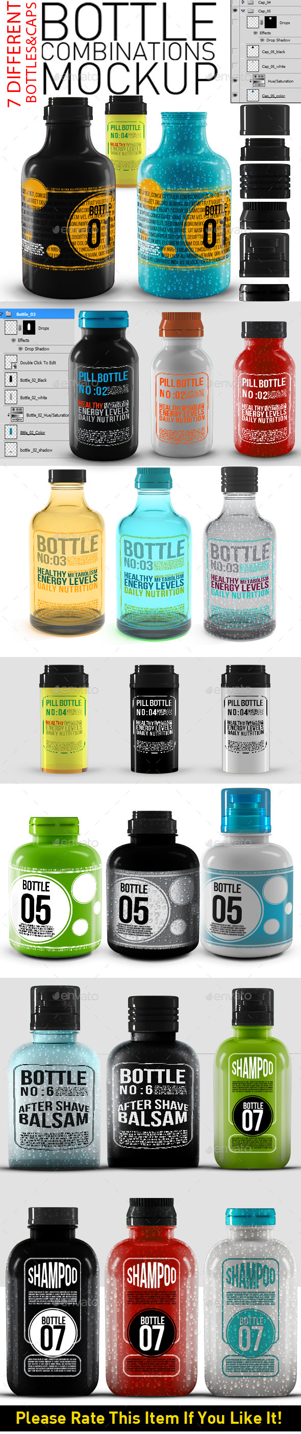 GraphicRiver Bottles Mock Up 11394003