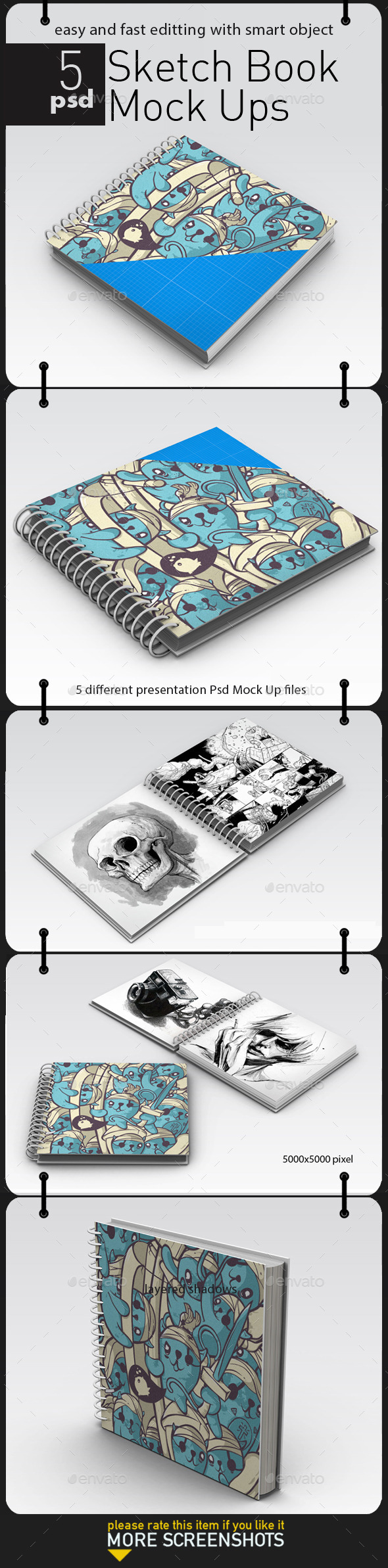GraphicRiver Sketch Book Mock Up 11394030