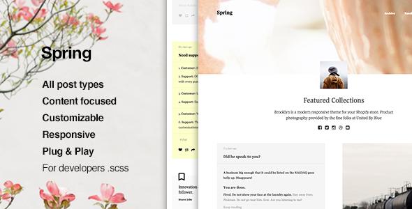 ThemeForest Spring Content Focus Tumblr Theme 11366587