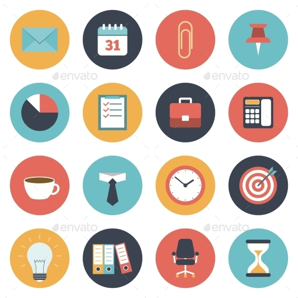 GraphicRiver Office Icons Set 11394569