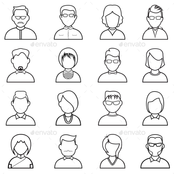 GraphicRiver Line People Icon 11394603